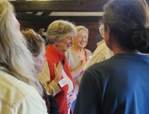 Rosalie (in red) at the 2015 Gathering