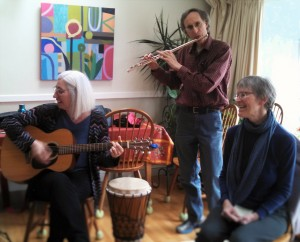 Anne Goodwin, Tom Penhale, Paula Hendrick at Sing the Spiral