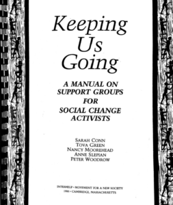 Cover of Keeping Us Going - support group manual